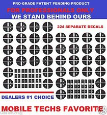 2007-2013 GM Button Decals Stickers Climate Control A/C Radio Chevrolet Gmc
