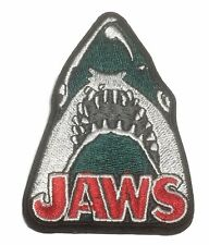 """Jaws Movie Series Shark 3 """" Tall Embroidered Iron On Patch"""