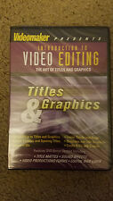 VIDEO MAKER PRESENTS INTRODUCTION TO EDITING THE ART OF TITLES AND GRAPHIC NEW