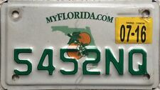 GENUINE Florida Citrus  Motorcycle USA License Licence Number Plate 5452NQ