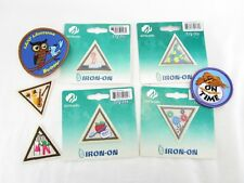 Lot Of 8 Girl Scouts Retired Triangle Patches Try-It's And Circles