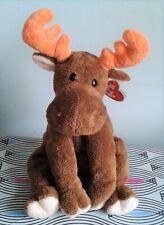 "Lumpy TY 10"" Reindeer Soft Toy Plush Floppy Beanie Comforter TAG MACHINE WASH"