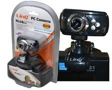 Webcam Web cam CMOS Camara web con Micrófono USB 2.0 para PC 3 led 2 mpx