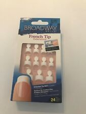 KISS BROADWAY FRENCH TIP NAIL EXTENSIONS CREATE LONGER NAILS BKFT01 DISCONTINUED