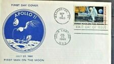 US SPACE APOLLO 11 FIRST MAN ON THE  MOON  SCARCE CACHET 1969 FDC