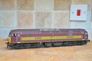 Heljan 4650 Class 47 No. 47744 EWS Livery pro-weathered.
