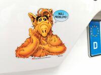 Durchsichtiger Alf NULL PROBLEMO ! Auto Aufkleber Car Sticker