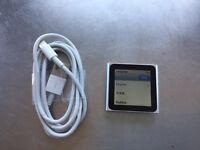 Apple iPod nano 6th Generation Blue (8 GB) Excellent Condition New Battery