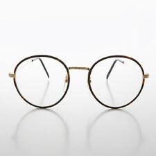 Round Gold Tortoiseshell Wrapped Polo Style Vintage Glasses Brown -EINSTEIN