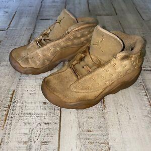 Nike Air Jordan Retro XIII 13 Wheat Gold Toddler Size 9C Shoes 414581-705