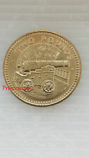 RARE-1990*UNC*GIBRALTAR CANNON £2 TWO POUND COIN