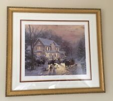Thomas Kinkade Home For The Holidays Lithograph S/N 336/980 Cert of Authenticity