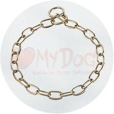 Herm Sprenger Brass 3.0mm Short Link Fur Saver Dog Collar