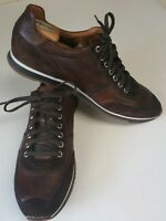 Magnanni Casual Brown Ronnie Leather Trainer Lace-up Men's Sz Oxford 10.5 15746