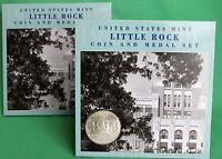 2007 Little Rock Coin & Bronze Medal Set Silver Dollar US Mint Set