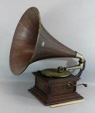 Antique RCA Victor III Talking Machine Record Player Phonograph RARE Oak Horn