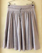 Theory Womens 8 Lavender Linen Stetch Skirt Pockets Knee Length