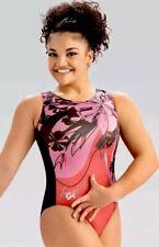 New Laurie Hernandez Gk Elite Gymnastics Leotard Floral Sunset Pink Flower Am