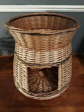 2 Tier Wicker Cat Bed Pet Small Dogs Animal House Basket