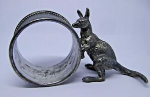 Superb Good Quality Vintage Australian Kangaroo Silver Plated Napkin Ring Ref#A