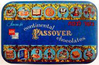 1953 Jewish TIN PASSOVER KOSHER CHOCOLATE Hebrew BOX Judaica EXODUS Haggadah