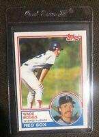 1983 Topps Wade Boggs Rookie #498 - Boston Red Sox - HOF - LEGEND        NM-MT