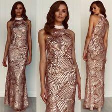 Ball Gown Sequins Formal Wear Dress Gold Size 16