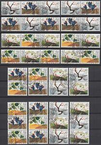 Liechtenstein Weinreben 1994 Mi.Nr. WZd 5-WZd 12 gestempelt Mi.Wert 53 € (6335)