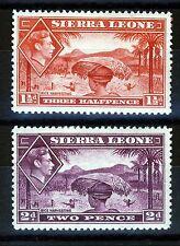 SIERRA LEONE King George VI 1938 1½d. Scarlet & 2d. Mauve SG 190 & SG 191 MINT