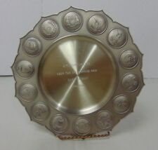 Selangor Pewter Malaysia Navy Presentation Plate with Compliments