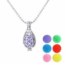 Drop Perfume Fragrance Oil Aromatherapy Diffuser Necklace Pendant 6*Disc Locket