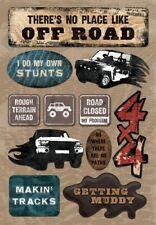 Scrapbooking Crafts Kf Stickers No Place Like Off Road Stunts Mud Trucks Tracks