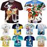 Women Men Cartoon Bugs Bunny Xmas Funny Print Casual 3D T-Shirt Short Sleeve Tee