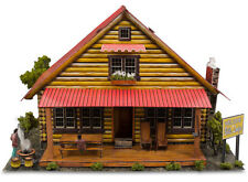 "1:87 HO Scale ""Log Cabin"" Photo Real Miniature Model Building Kit Track Sets"