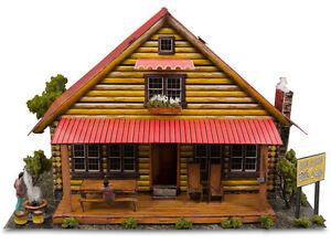 "1:87 HO Scale ""Log Cabin"" Photo Real Miniature Model Building Kit Track Sets"