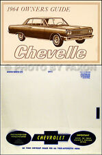1964 Chevelle Owners Manual with Envelope SS El Camino Malibu 300 Chevy Guide