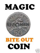 ULTIMATE MAGIC TRICK BITE OUT COIN 50c - NEW