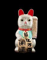 Enorme Hucha Gato Japonés Amuleto de la Suerte Prosperidad Maneki Neko 59cm 322