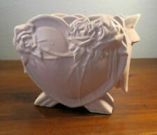 McCoy Pink Heart and Roses Art Deco Footed Pottery Vase Planter