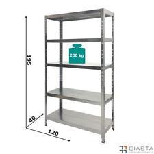 SCAFFALI metallo 120x40 SCAFFALATURE Professionali SCAFFALE Robusto alta portata