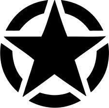 adesivo sticker stella militare diametro 40 Cm jeep