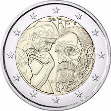 Frankreich 2 Euro Münze Auguste Rodin 2017 Stempelglanz Gedenkmünze