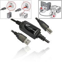 10 metre LONG USB 2.0 Active Boost Type A to B PRINTER CABLE Lead 10m