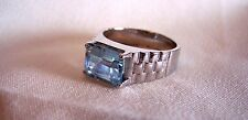 Rings  Sterling Silver  925 Blue Topaz   Size 9 Gorgeous Ring from QVC