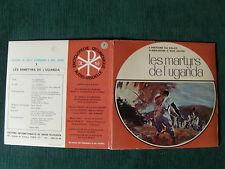 "LES MARTYRS DE L'UGANDA 1969 - 7"" EP France  GATEFOLD + INSERT + 9 COLOUR SLIDES"