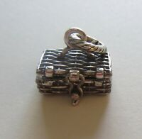 Brighton  PERFECT PICNIC  Charm- hinged opening- basket-wine- forks glasses