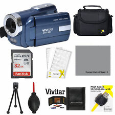 Vivitar1080I Hd Digital Video Camera Camcorder With Light& Flash Bonus 32Gb KiT