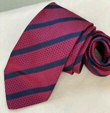 Men's Authentic Brioni dis. n. B91059 Red Silk Neck Tie made in Italy