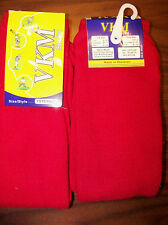 2 Pair VKM / YS10 Red Baseball Soccer Football All Sports Socks Youth Size NWT