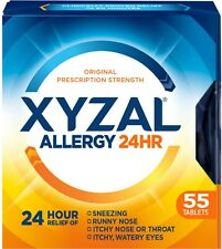 Xyzal 24 Hour Allergy Relief Tablets 55 ea (Pack of 3)